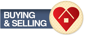 House in Heart Buying & Selling Button - Real Estate